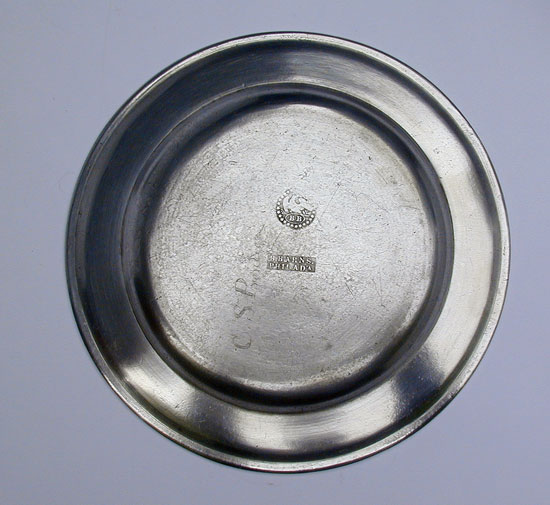A Single Reed Rim Pewter Plate by Blakeslee Barns