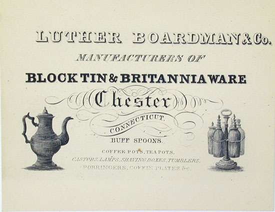 A Luther Boardman Trade Card