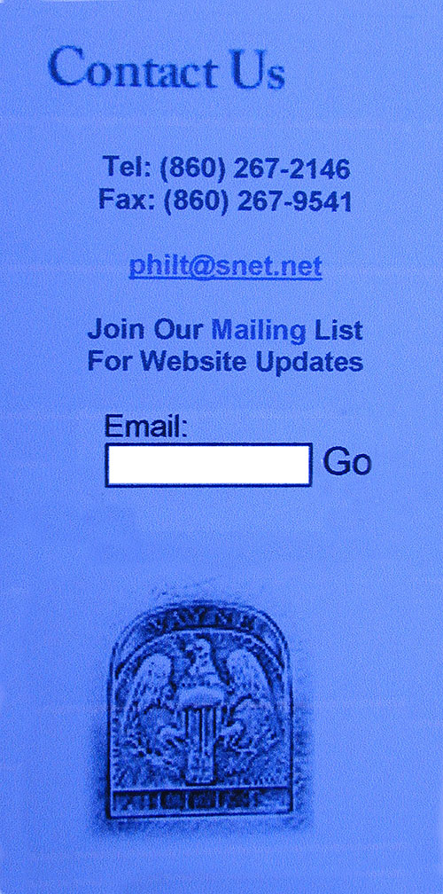 Receive Our Email Website Updates!