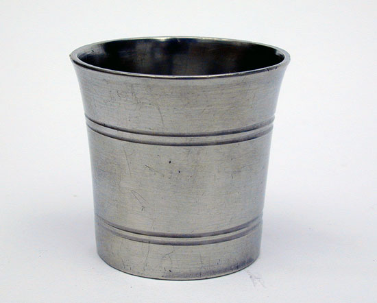 A Miniature New England Pewter Beaker
