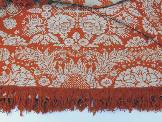 A Jacquard Patterned Coverlet by Henry Oberly