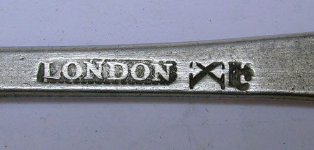 A Set of Four London Marked Export Pewter Spoons