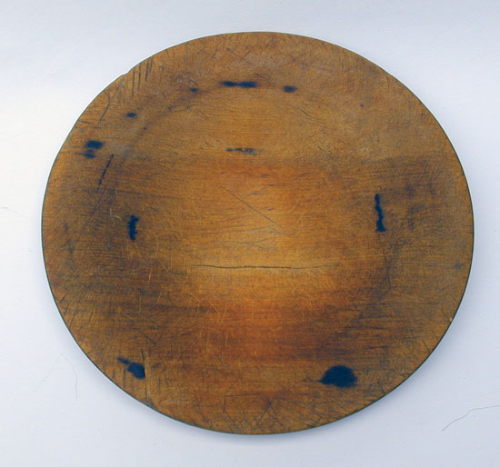 A Heavily Used Treenware Plate
