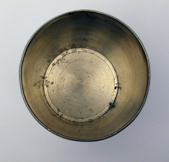 A Scarce Antique American Pewter Beaker by Babbitt Crossman & Co