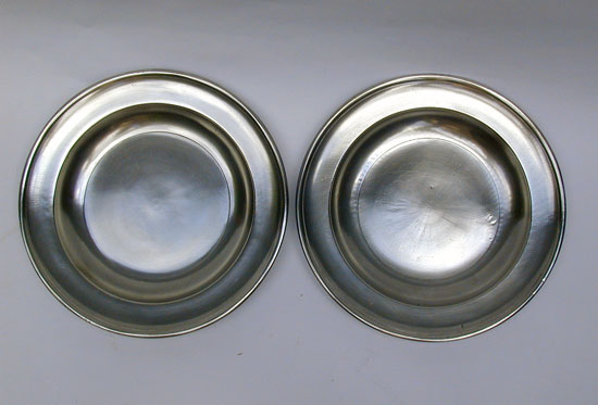 A Pair of Pewter Semi-Deep Plates by Boardman