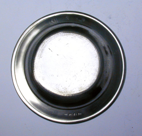 A Flat Rim Export Pewter Plate by Stephen Cox