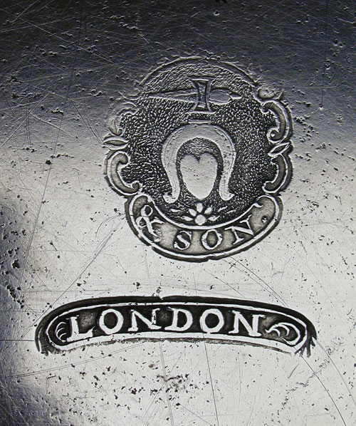 A Fasson & Son Export Pewter Plate
