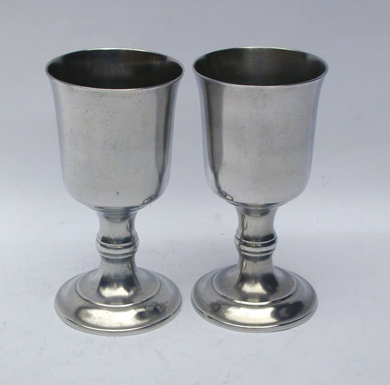 A Pair of Unmarked Boardman Tall Chalices