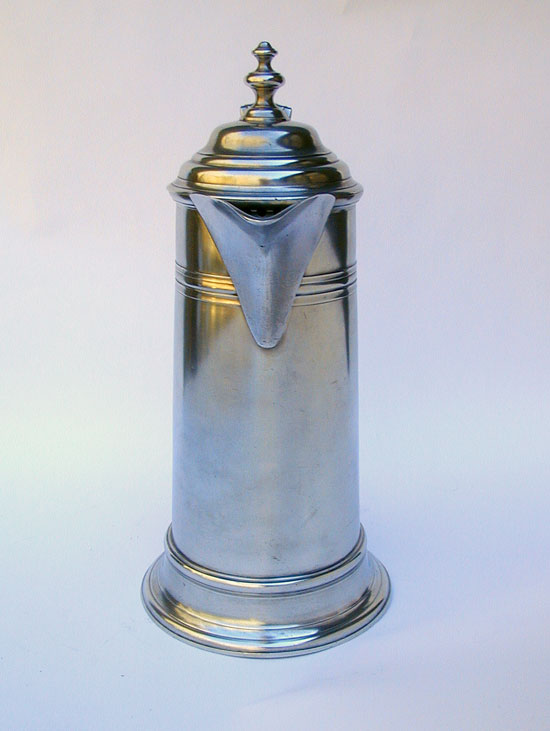 An 18th Century English Export Pewter Flagon with 19th Century Modification