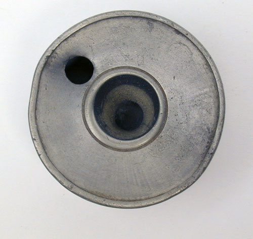 A Small Unmarked Pewter Inkwell