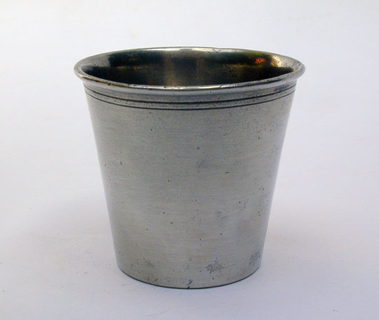 A Small Pewter Marked Beaker