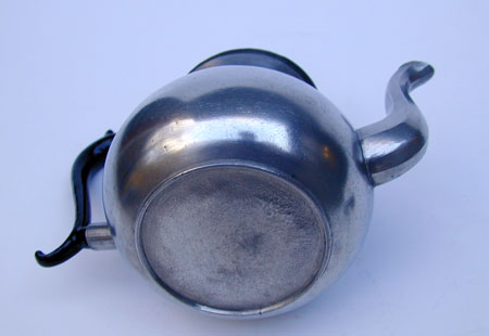 An Unmarked American Pewter Pear Form Teapot