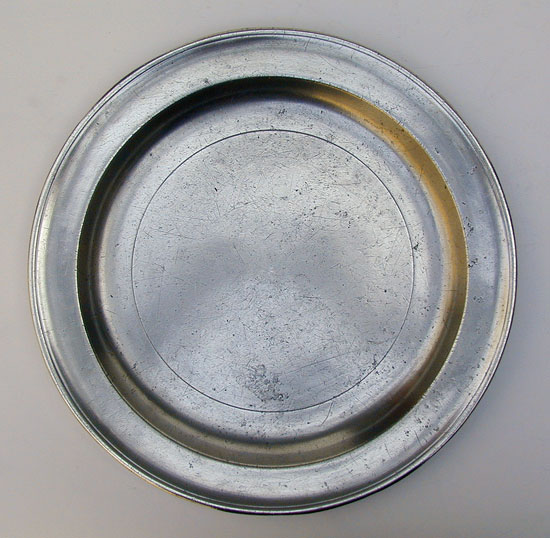 A Narrow Rim Pewter Plate by Jacob Whitmore