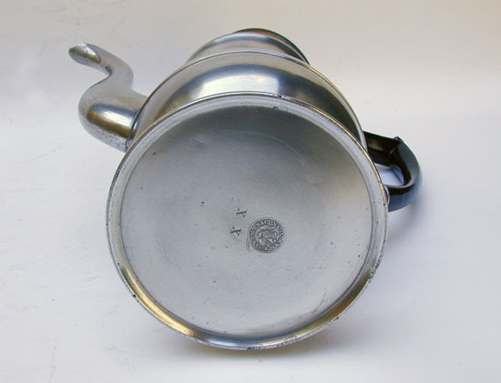 A Near Mint Antique American Pewter Coffeepot by Boardman & Co.
