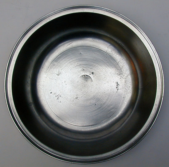 Antique American Pewter Basin by Wm Danforth of Middletown