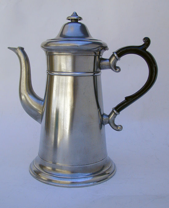 A Lighthouse Pewter Coffeepot by I.C. Lewis