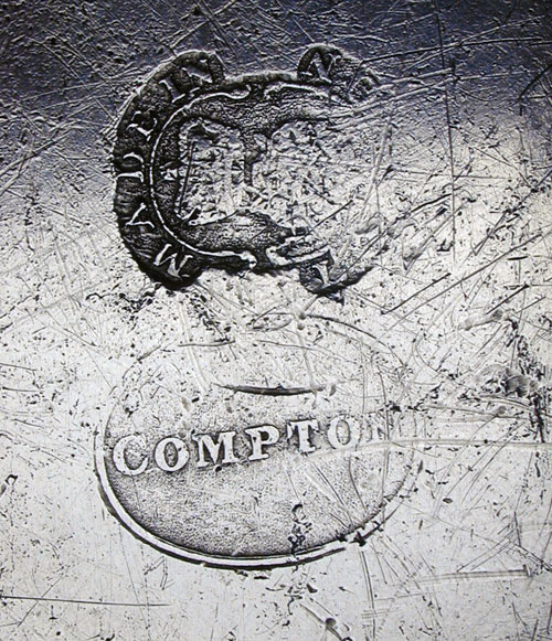 An Export Pewter Plate by Thomas & Townsend Compton