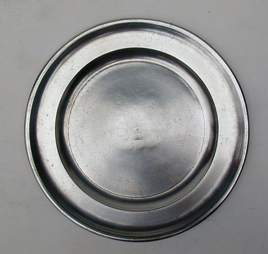 Pewter Plate by Edward Danforth