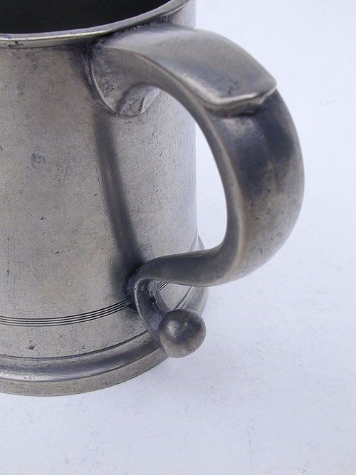 Pint Pewter Taper-Sided Mug by John & Robert Palethorp