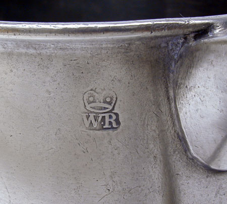 An Export Pewter Quart Taper-Sided Mug by Townsend & Compton