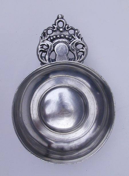 A Scarce WN New England Initial Handled Porringer