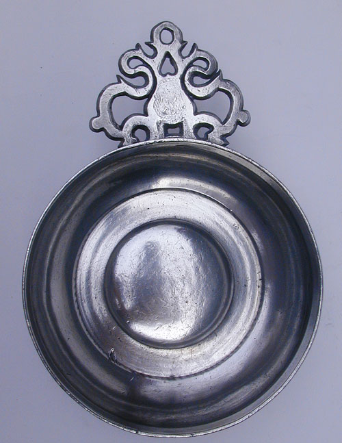 An Early Scarce Thomas D. Boardman Old English Handle Porringer