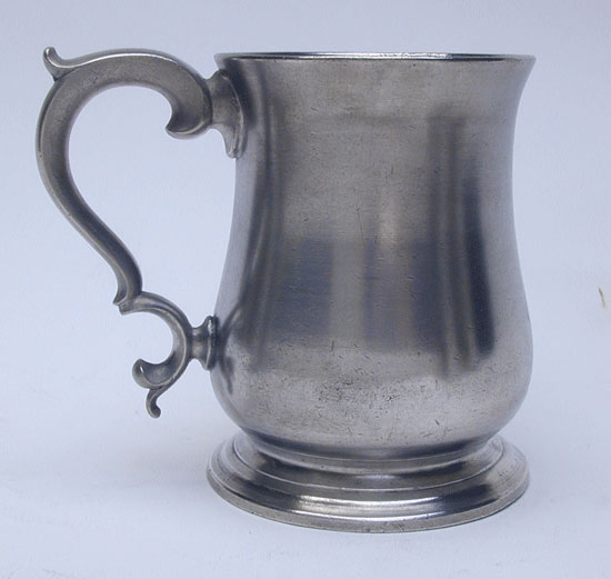 An Export Tulip Form Pewter Mug by Joseph Spackman