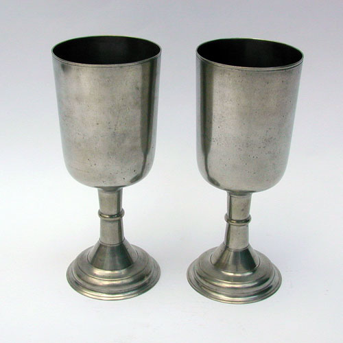 A Pair of Tall English Export Chalices