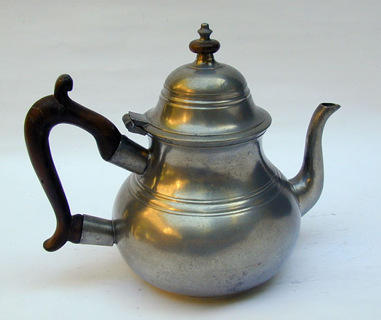 A Very Fine London Quart Pear Shaped Teapot