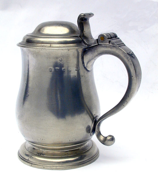 A Very Early Form Tulip Tankard by Edward Ubly