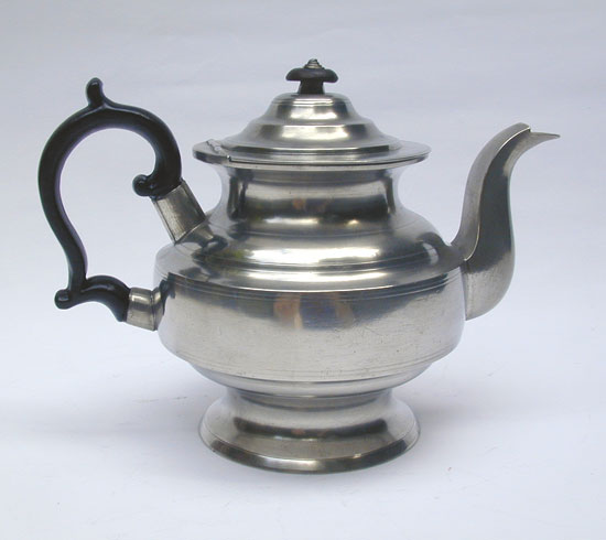 A Fine Inverted Mold Teapot by Rufus Dunham