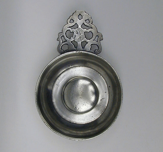 A Small Size Calder Flower Handle Porringer