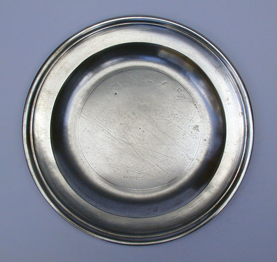 A Pewter Plate by Compton of London