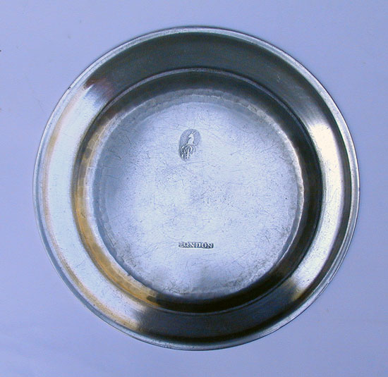 An Export Pewter Plate by Robert Bush & Company