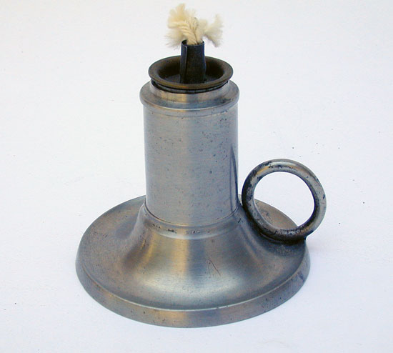 A Cylindrical Font Flared Base Whale Oil Lamp